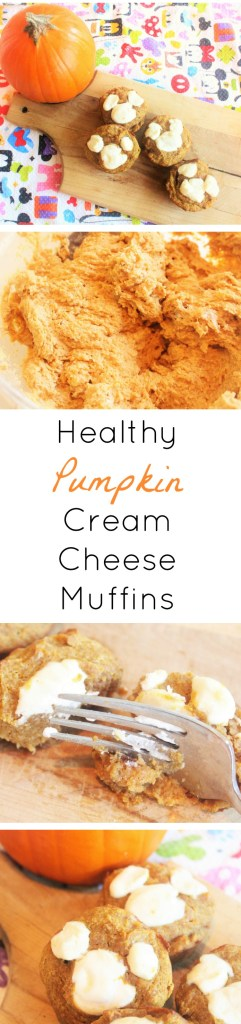 Healthy Pumpkin Cream Cheese Muffins