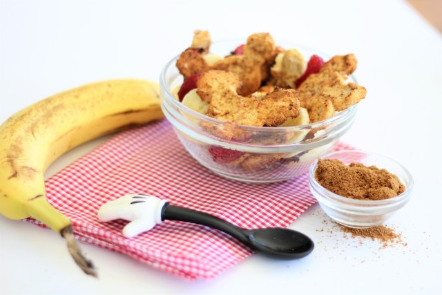 Vegan Cinnamon Toasted Mickey Cereal - Vegan, Healthy, Gluten-Free, Disney Breakfast, Homemade Cereal