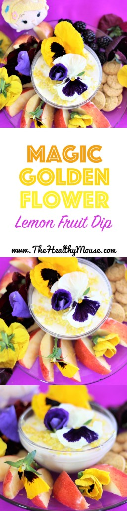 Magic Golden Flower Vegan Lemon Yogurt Dip - Tangled Recipe . Tangled The Series inspired recipe - Vegan yogurt dip - Tangled Recipe - Disney Recipe - Tangled the Series