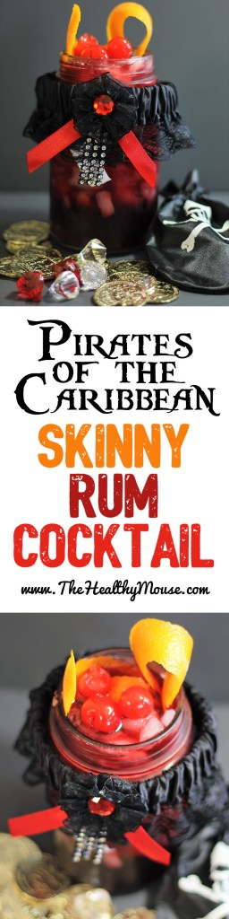 "Pirates of the Caribbean ""We Wants the Redhead"" Cocktail. Skinny Rum cocktail, Pirates of the Caribbean Cocktail - Skinny Rum Cocktail"