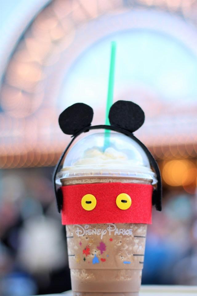 Mickey Mouse DIY Dome Cup Coffee Sleeve - DIsney Coffee - Disneyland Coffee Cup - Mickey Ears - DIY Mickey ears