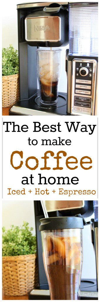 The Best Way to Make Coffee at Home - Ninja Coffee Bar System - Make iced, hot, blended, espresso, and cappuccinos at home that taste like the coffee shop! #NinjaKitchen #Ninja #Coffee