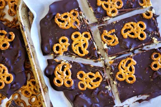 Mickey Dark Chocolate Pretzel Bark – National Pretzel Day