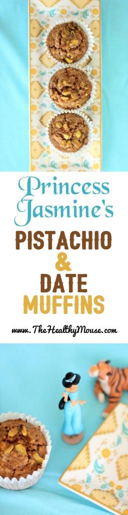 Princess Jasmine's Pistachio & Date Muffins - Healthy Date Muffins - Healthy Whole Wheat Muffins - Disney Breakfast - Disney Princess Breakfast