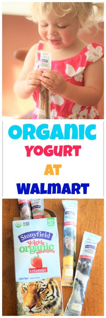 Organic Yogurt at Walmart - You can now conveniently buy organic groceries at Walmart!