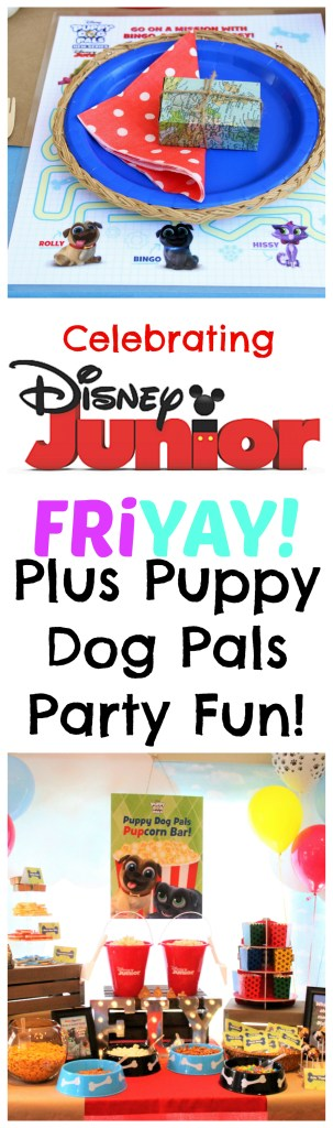 A Disney Junior Puppy Dog Pals themed party, plus all the information you need on having a Disney Junior FRiYAY all summer long! #DisneyJuniorFRiYAY AD