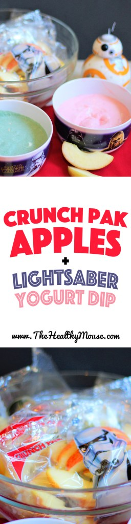 Crunch Pak Apple Slices Served with All-Natural Lightsaber Yogurt Dips ! #CrunckPak #CrunchPakApples #Ad