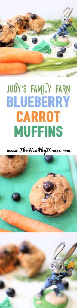 Judy's Family Farm Blueberry Carrot Muffins - Healthy Blueberry Muffins - Zootopia Recipe - Disney Recipe