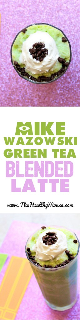 Mike Wazowski Blended Green Tea Latte - Healthy Green Tea Latte - Healthy Green Tea Frapp - Disney Food - Disney Recipe - Pixar Food - Monsters Inc Recipe
