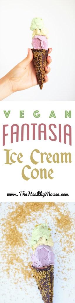 Gluten-free Fantasia Ice Cream - Disneyland Copycat Recipe - Disney Parks Ice Cream