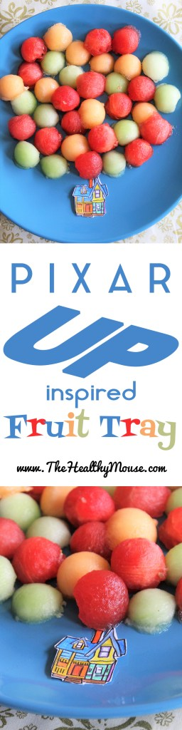 Up Fruit Tray - This Pixar Up inspired fruit tray is a great and simple way to get kids to eat a healthy snack!