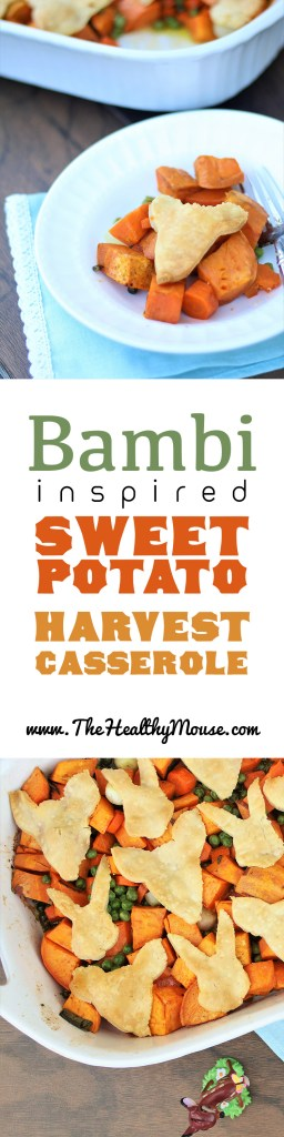 Disney Bambi inspired sweet potato fall harvest casserole - vegetarian Disney recipe
