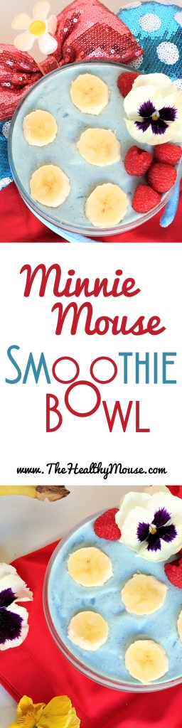 A Minnie Mouse Rock the Dots inspired smoothie bowl! Healthy Disney Food, Disney Food Art