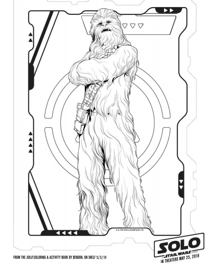 Solo: A Star Wars Story Coloring Pages and Activity Pages