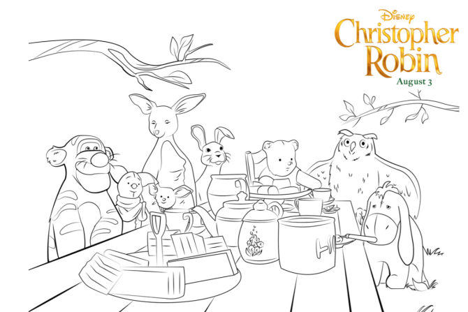 Christopher Robin Coloring Pages and Activity Sheets - The Healthy Mouse