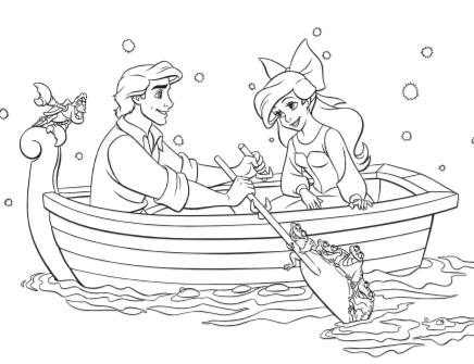 The Little Mermaid Coloring Pages And Activity Sheets The