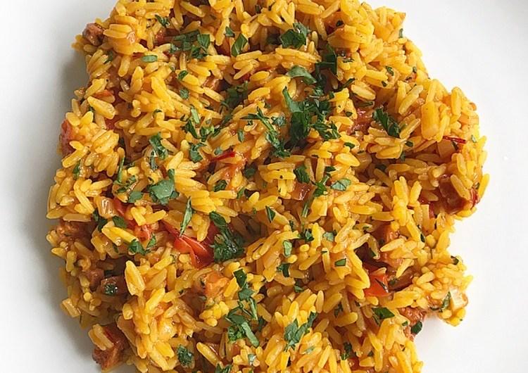 One Pot Chorizo and Tomato Rice