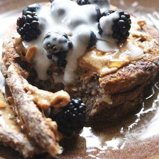Vegan Blueberry Banana Buckwheat Pancakes