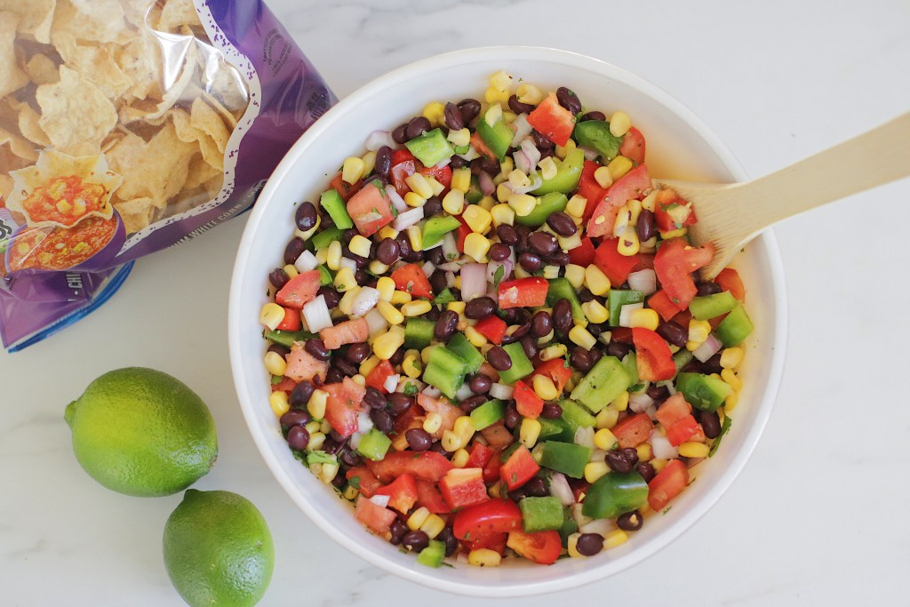 A new twist on Mexican black bean dip. It's super healthy and is gluten free and vegan. Enjoy this refreshing dip on a hot summer day.