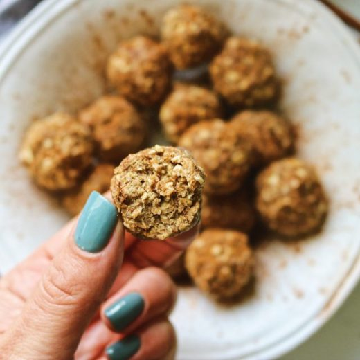 These easy almond butter protein balls are vegan, gluten-free and can be made low carb for those following a paleo or keto diet.