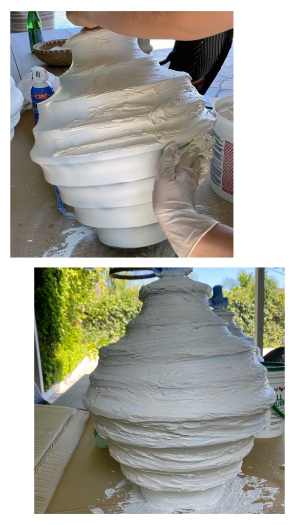 DIY Lamp wet compound
