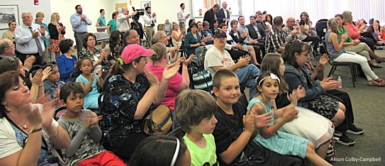 It was a good and lively crowd with students from Tilton Elementary School