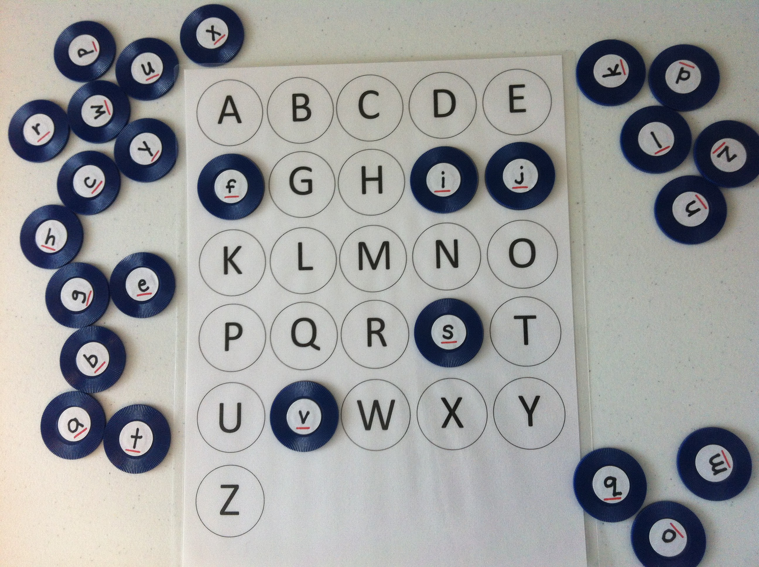 Uppercase Lowercase Alphabet Matching Game With Free