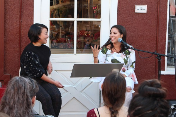 Marie Lu and Victoria Aveyard at the War Storm launch party
