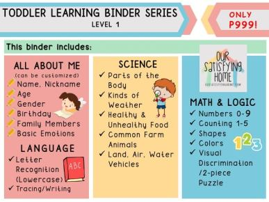 Homeschool Learning Resources Toddler Binder Series Level 1