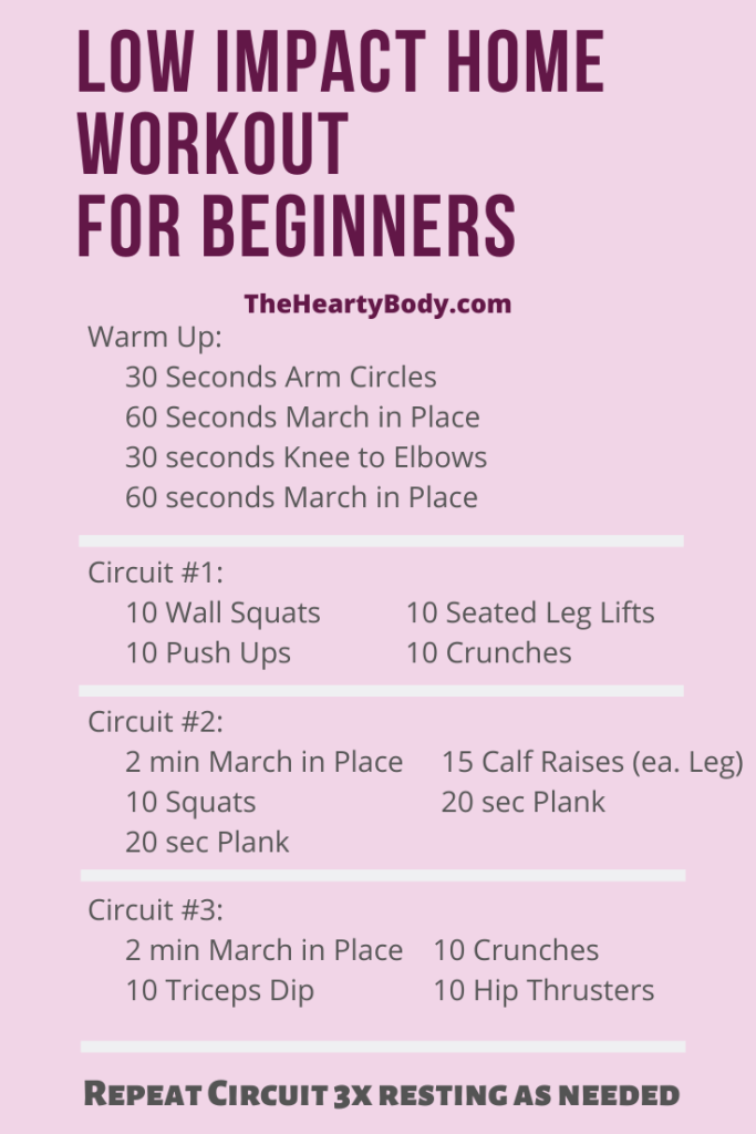 Low Impact Home Workout for Beginners