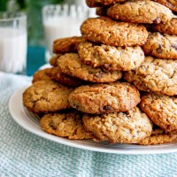 Loaded Peanut Butter & Oatmeal Chocolate Chip Cookies