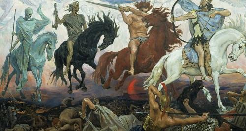 800px-Four Horsemen of the Apocalypse_Victor Vasnetsov Wikipedia Public Domain