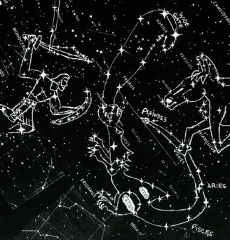 star chart orion & dragon