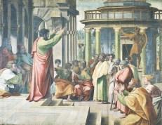 http://en.wikipedia.org/wiki/File:V%26A_-_Raphael,_St_Paul_Preaching_in_Athens_(1515).jpg