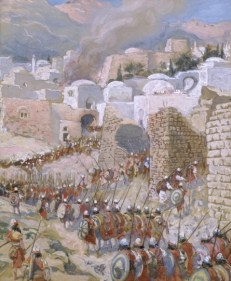 http://en.wikipedia.org/wiki/File:Tissot_The_Taking_of_Jericho.jpg