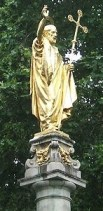 http://en.wikipedia.org/wiki/File:Statue_of_Saint_Paul_-_London_-_20090804.jpg