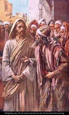 Sadducees Question Jesus by Harold Copping www.wikigallery.com public domain