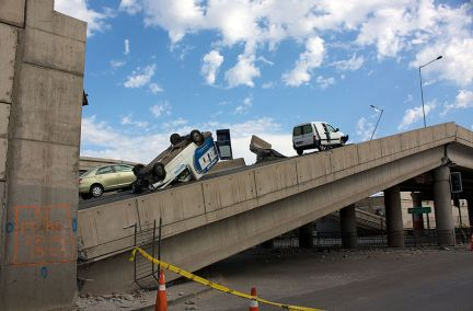 http://en.wikipedia.org/wiki/File:Vespucio_Norte_Highway_after_2010_earthquake.jpg