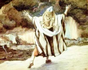 http://en.wikipedia.org/wiki/File:Tissot_Abraham_Sees_Sodom_in_Flames.jpg