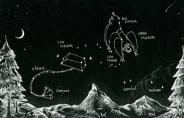 Revelation 12 Woman on Altar w/ Flower of Heaven Constellations