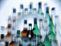 http://commons.wikimedia.org/wiki/File:Alcohol_bottles_photographed_while_drunk.jpg