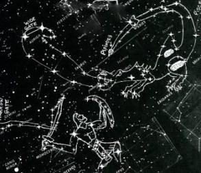 Revelation 12 star-chart: Orion Fights Dragon