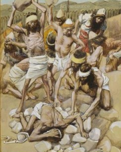 The Sabbath Breaker Stoned by James Tissot, 1900 Jewish Museum, New York