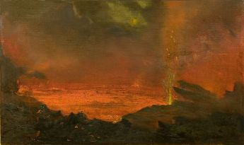 http://commons.wikimedia.org/wiki/File:David_Howard_Hitchcock's_oil_painting_'Halemaumau,_Lake_of_Fire',_1888.jpg