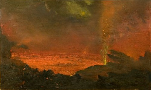 http://commons.wikimedia.org/wiki/File:David_Howard_Hitchcock%27s_oil_painting_%27Halemaumau,_Lake_of_Fire%27,_1888.jpg