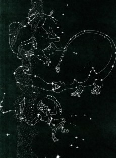winter Constellations in the east