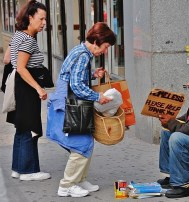 http://commons.wikimedia.org/wiki/File:Helping_the_homeless.jpg