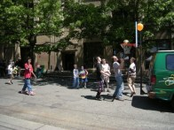Children's Street basketball during a church fair - wikimedia share-alike license