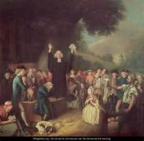 George Whitefield preaching - by John Collet - www.wikigallery.org US public domain