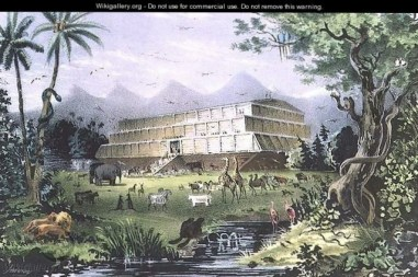 Noahs Ark - Currier & Ives - www.wikigallery.org - Public Domain